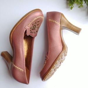 Gianni Bini Pumps Heels 9.5 Dusty Rose Pink Studde
